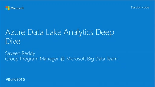 Azure Data Lake Deep Dive