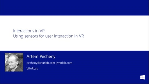 5.2 | Using sensors for user iteraction in VR