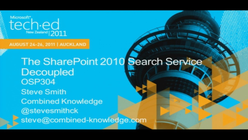 The SharePoint 2010 Search Service Decoupled