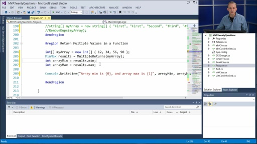 Twenty C# Questions Explained: (20) How can I return multiple values from a function in C#?