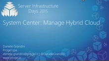 System Center: Manage Hybrid Cloud - SC02