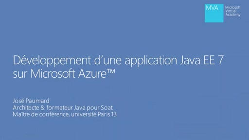 Application Java EE 7 dans Microsoft Azure 04 - Module REST