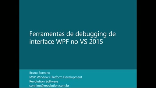 Ferramentas de Debugging de UI no VS 2015
