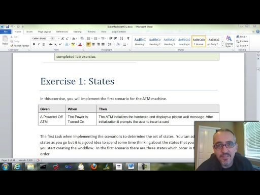 Workflow TV - WF4 State Machine Hands On Lab: Exercise 1