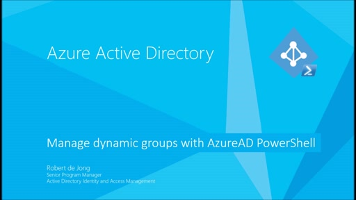 Managing dynamic groups with Azure AD PowerShell