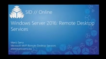 Windows Server 2016 Remote Desktop Services