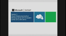 Session 1 – Cloud Operating System Infrastructure for Hosting Providers
