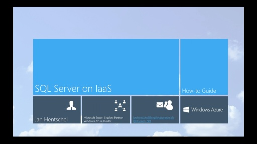 Tutorial - SQL Server auf Infrastructure-as-a-Service (IaaS) - Teil 1/4