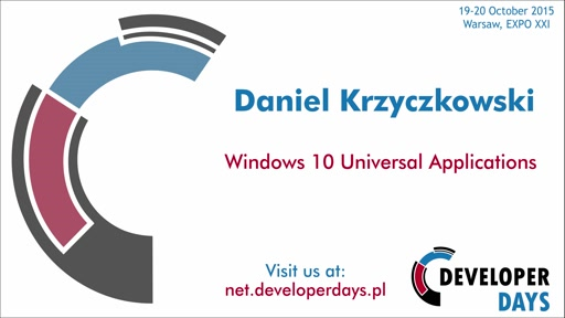 Windows 10 Universal Applications - Daniel Krzyczkowski