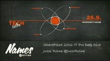 SharePoint 2016 IT Pro Deep Dive