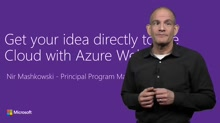 Get your idea to the Cloud with Web Apps