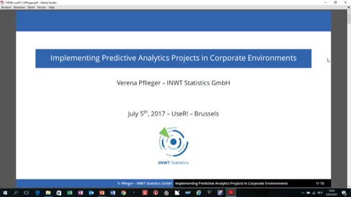 Implementing Predictive Analytics projects in corporate environments