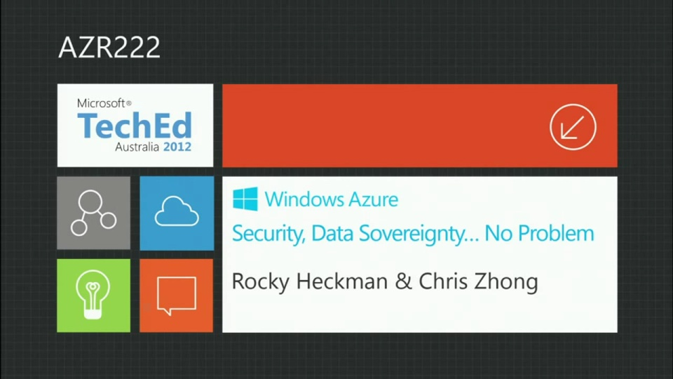 Azure; Security, Data Sovereignty: No Problem