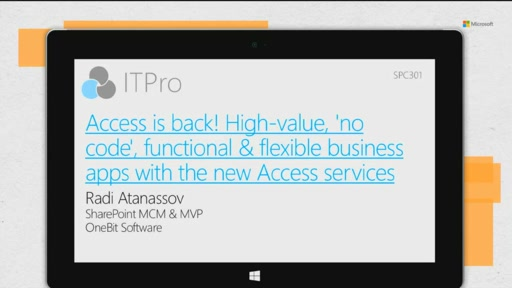 Access is back! High-value, 'no code', functional & flexible business apps with the new Access services