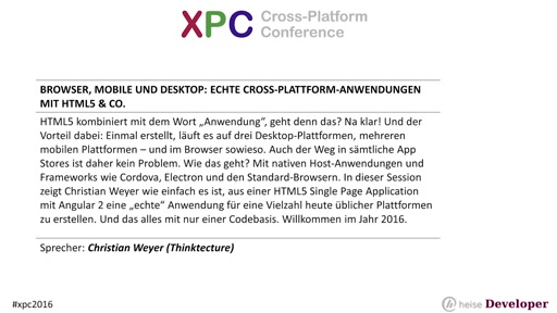 Browser, Mobile und Desktop: Echte Cross-Plattform-Anwendungen mit HTML5 & Co.