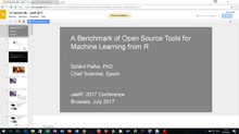 A Benchmark of Open Source Tools for Machine Learning from R