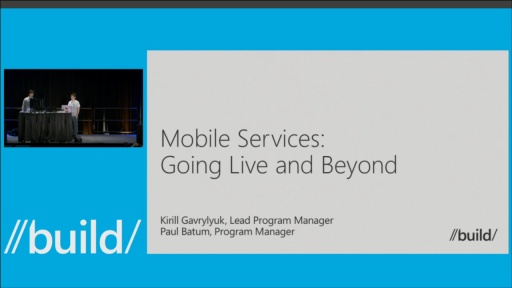 Going Live and Beyond with Windows Azure Mobile Services