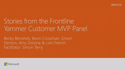 Hear stories from the frontline of collaboration: Yammer MVPs share their lessons