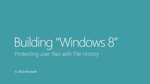 Protecting user files with File History