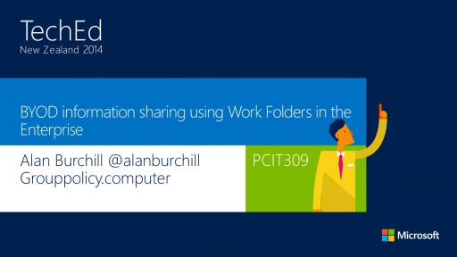 BYOD information sharing using Work Folders in the Enterprise