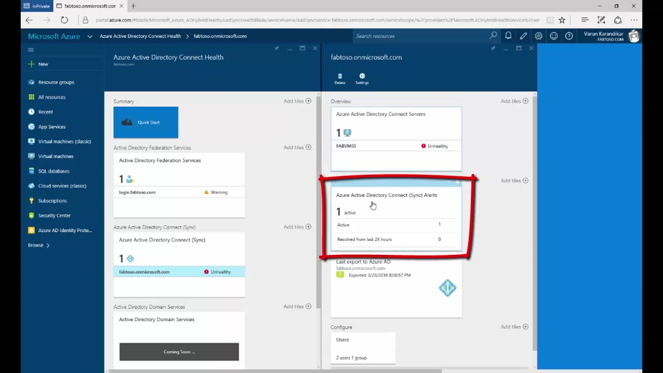 Azure Active Directory Connect Health: Monitoring the sync engine
