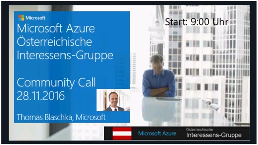Azure Community Call - November 2016