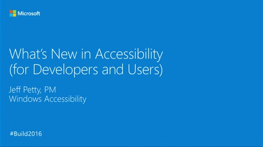 What's New in Accessibility (for Developers and Users)