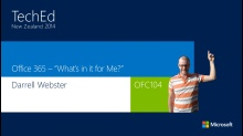 """Office 365 - """"What's In It For Me?"""""""