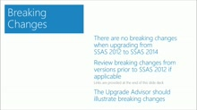 Upgrading to Microsoft SQL Server 2014: (06) Upgrading SSAS - Multidimensional and Tabular Models