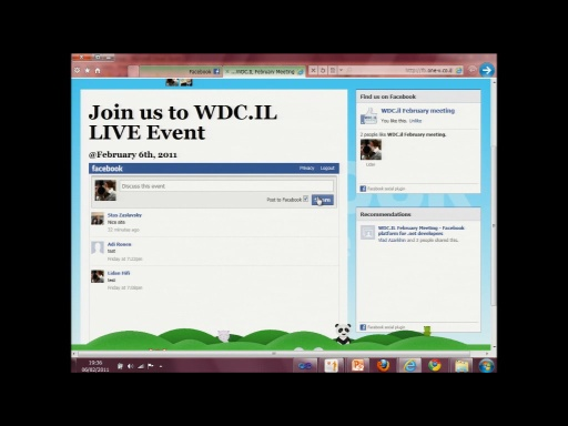 WDC.IL February 2011: Facebook for Developers with Lidan Hifi Part 2
