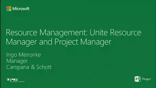 Resource Management: Unite the Resource Manager and the Project Manager