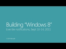 Live tile notifications, Sept 10-14, 2011