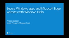 Secure Windows apps and Microsoft Edge websites with Windows Hello