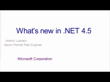 TechDays 11 Bern - What's new in .NET 4.5
