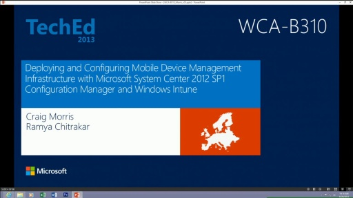 Deploying and Configuring Mobile Device Management Infrastructure with Microsoft System Center 2012 SP1 - Configuration Manager and Windows Intune
