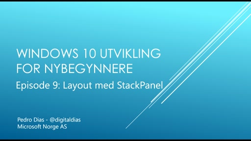 09 - Layout med StackPanel
