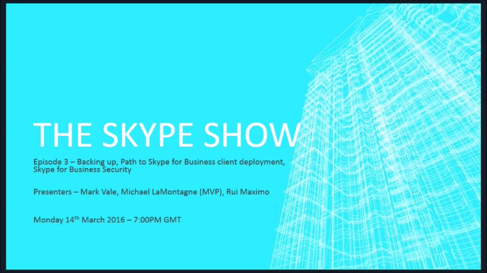 The Skype Show: Episode 3 – Backing Up, Desktop Client and Security