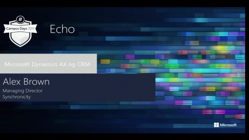 From CRM On Premises to CRM Online using Synchronicity Echo managed service