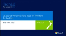 Javascript Windows Store apps for Windows Embedded