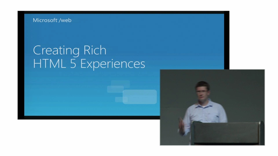 Creating Rich HTML5 Experiences