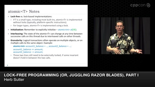Lock-Free Programming (or, Juggling Razor Blades), Part I