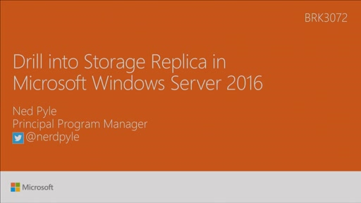 Drill into Storage Replica in Windows Server 2016