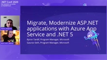 Migrate & Modernize ASP.NET Applications with Azure App Service and .NET 5