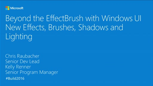 Beyond the EffectBrush with Windows UI