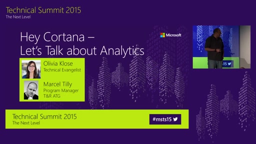 Hey Cortana, let´s talk about Analytics