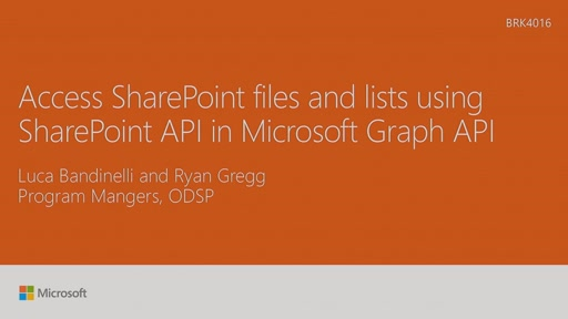 Access SharePoint files and lists using SharePoint API in Microsoft Graph API