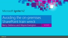 Avoiding the on-premises SharePoint Train Wreck