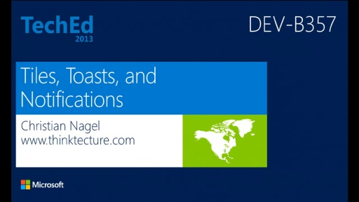 Tiles, Toasts, and Notifications in Windows Store Apps