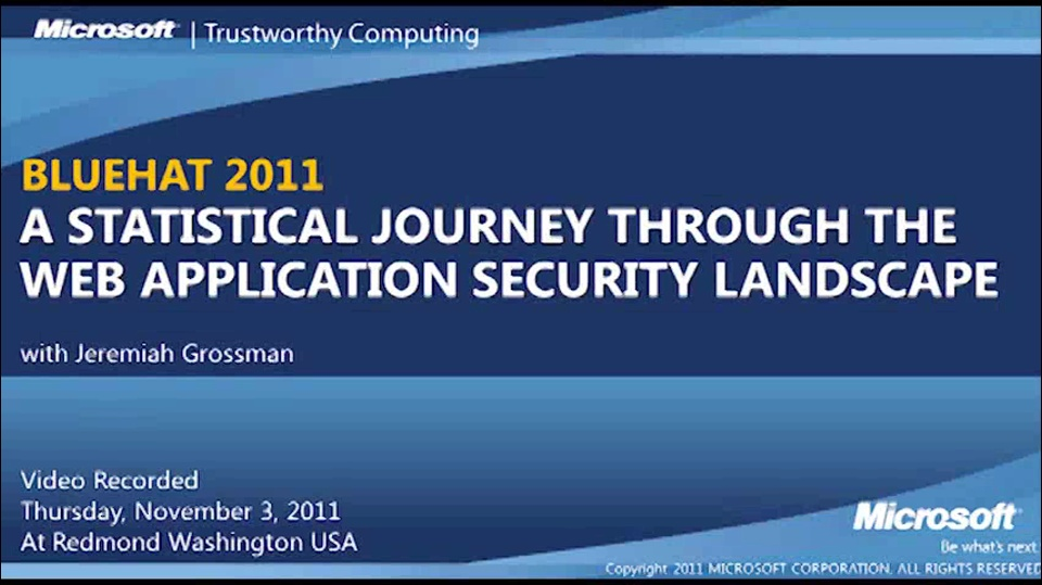 A Statistical Journey through the Web Application Security Landscape