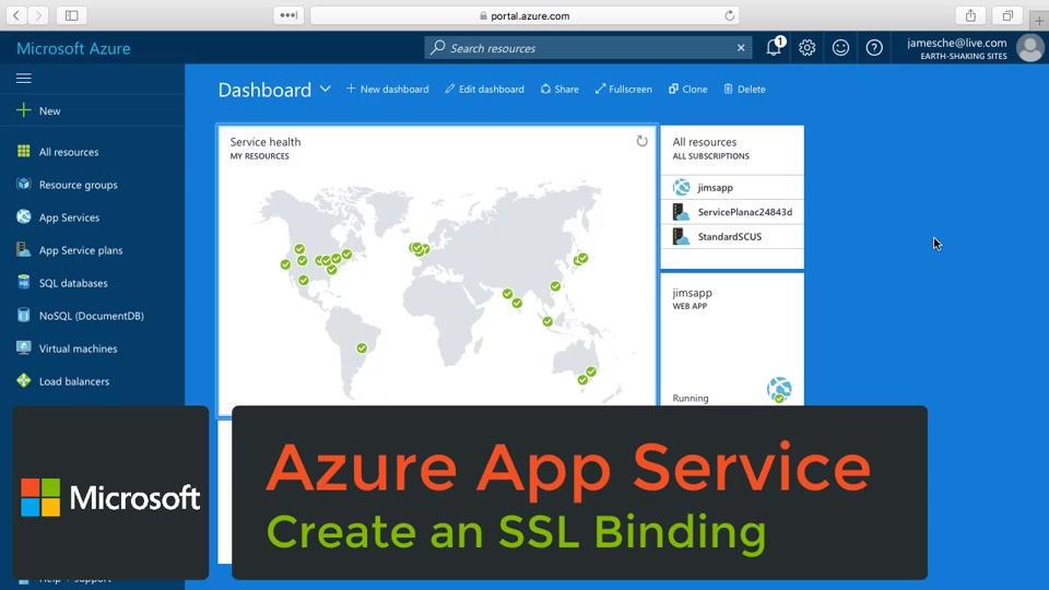Upload An Ssl Certificate Azure App Service Self Help Channel 9